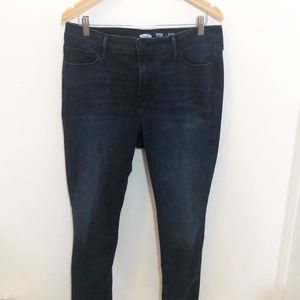 Cropped Old Navy Rock Star High Rise Jeans